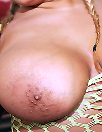 Check out this hot big tits fish net babe poinded hard in her tits and pussy cumfaced video